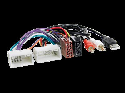 ISO Adapterkabel Hyundai/Kia 24Pin/18Pin USB/AUX lose