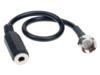 Antennenadapter F-Stecker > 3.5 mm Klinkenbuchse 22cm
