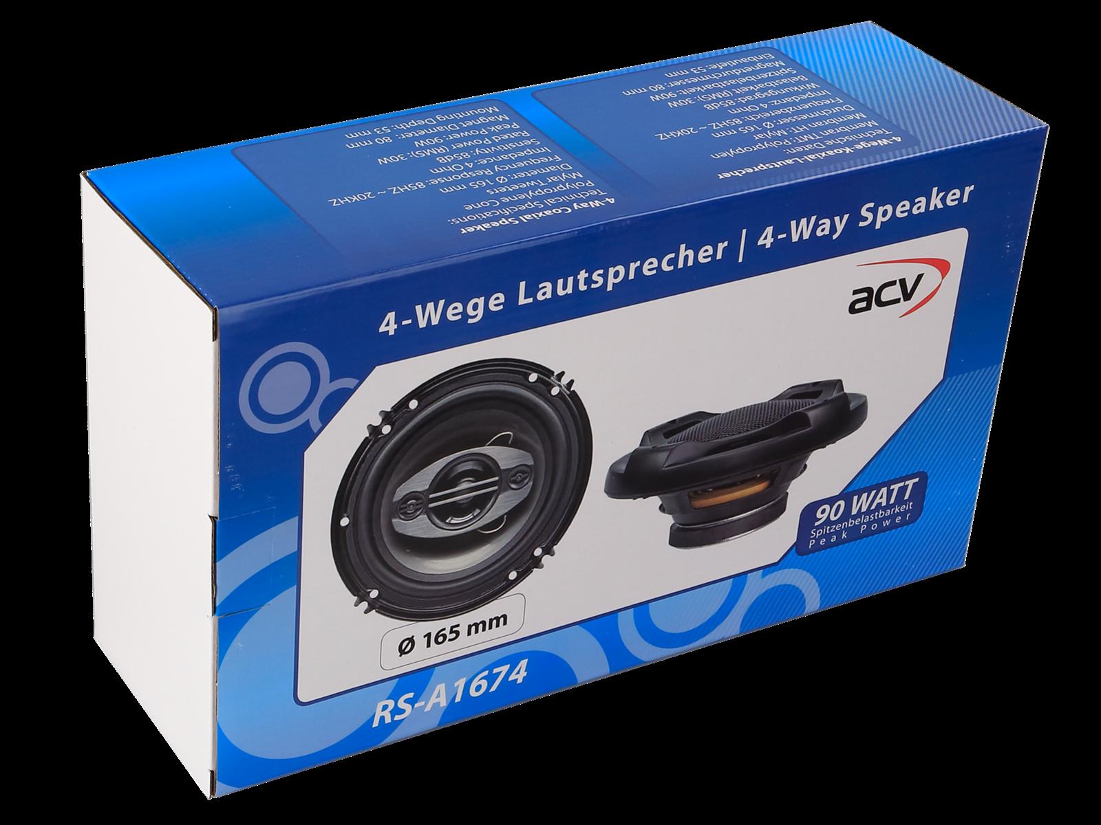 Lautsprecher Set 2 Wege Coax 165 mm