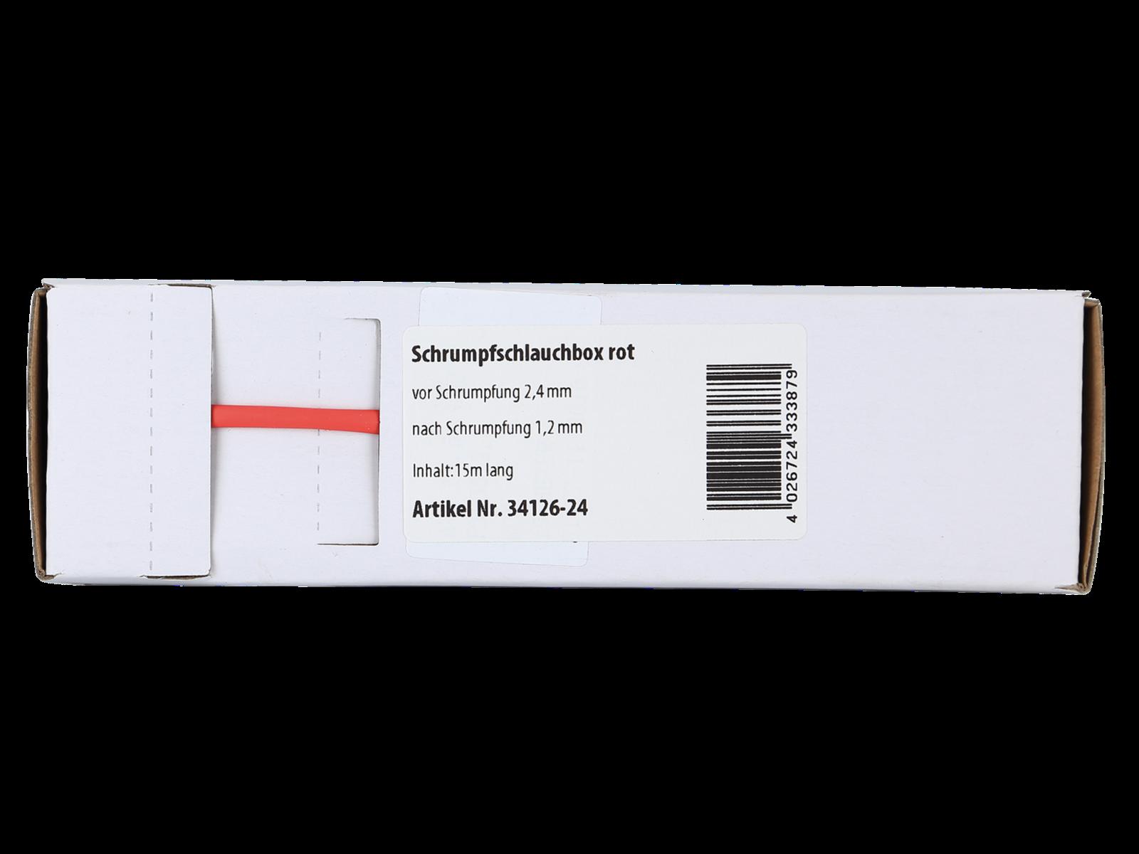 Schrumpfschlauch rot Ø 2,4 mm/ Länge: 15 m