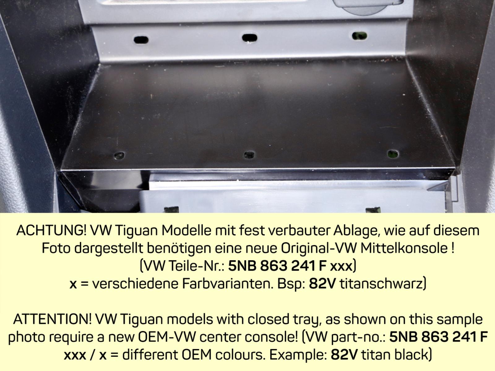 INBAY® Ablage VW Tiguan II 2016 - 2021 10W