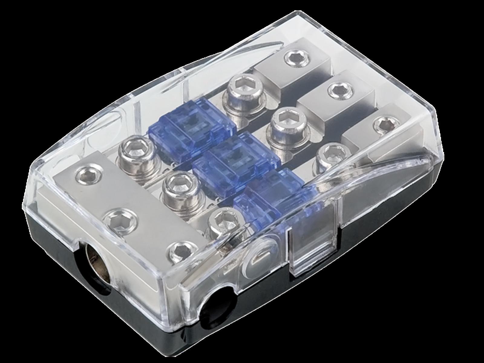 Mini ANL Sicherungshalter (silber) 1 x 35 mm² + 2 x 20 mm²